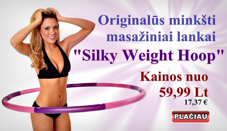 Silky weight hoop masažinis lankas